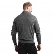 "CARLU de Monaco 1/4 Zip cashmere pullover ""Leonard"" superfine knit"