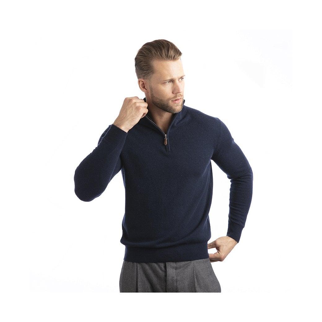 "CARLU de Monaco 1/4 Zip cashmere pullover ""William"""