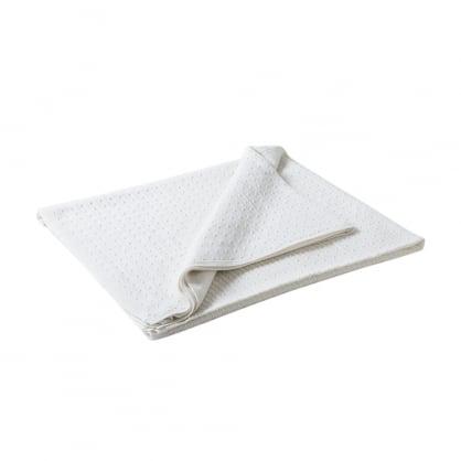 Cable cashmere blanket - 200cm X 120cm