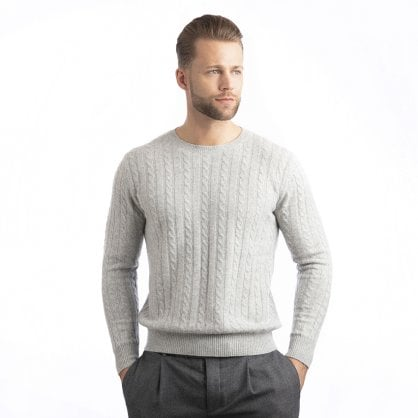 "Cable round-neck sweater ""Coby"""