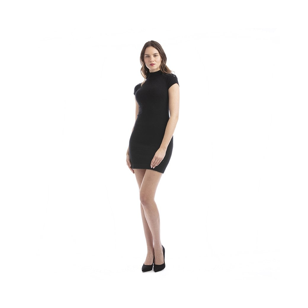 "CARLU de Monaco Cashmere dress with stones and back zipper ""Vanessa"""