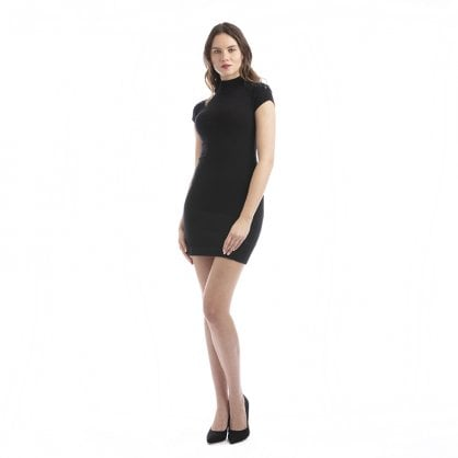 "Cashmere dress with stones and back zipper ""Vanessa"""