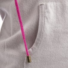 "CARLU de Monaco Casual cashmere jacket with contrast hoodie ""Antoinette"""
