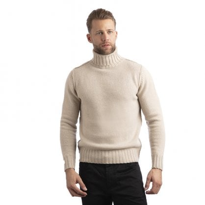 "Inverted cashmere roll-neck ""Sean"""