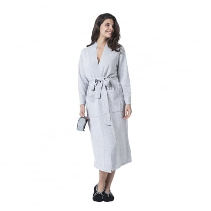"Long cashmere robe with belt ""Julia"""