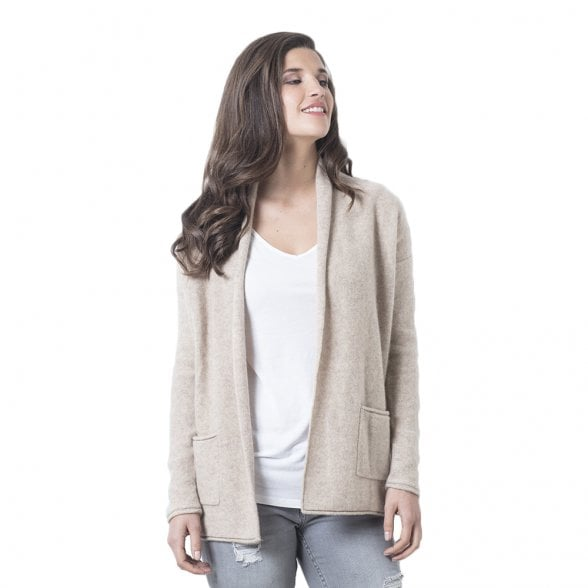 "Open cashmere cardigan with pockets ""Bettina"""