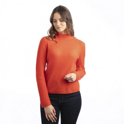 "Ribbed cashmere turtle neck ""Lorraine"""