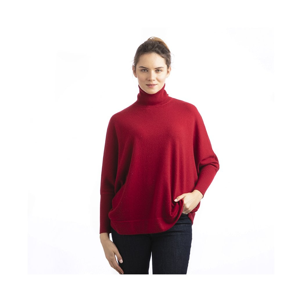 "CARLU de Monaco Roll-neck batwing cashmere pullover ""Stacy"""