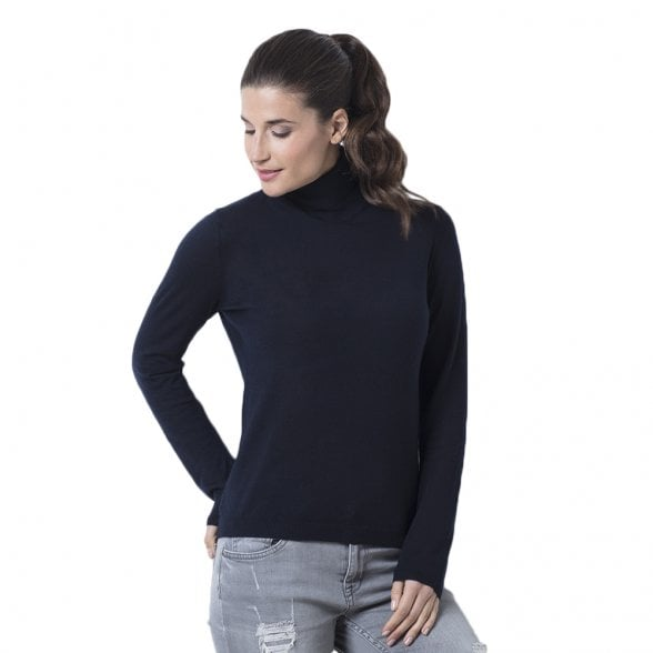 "Roll-neck cashmere pullover ""Victoria"" superfine knit"