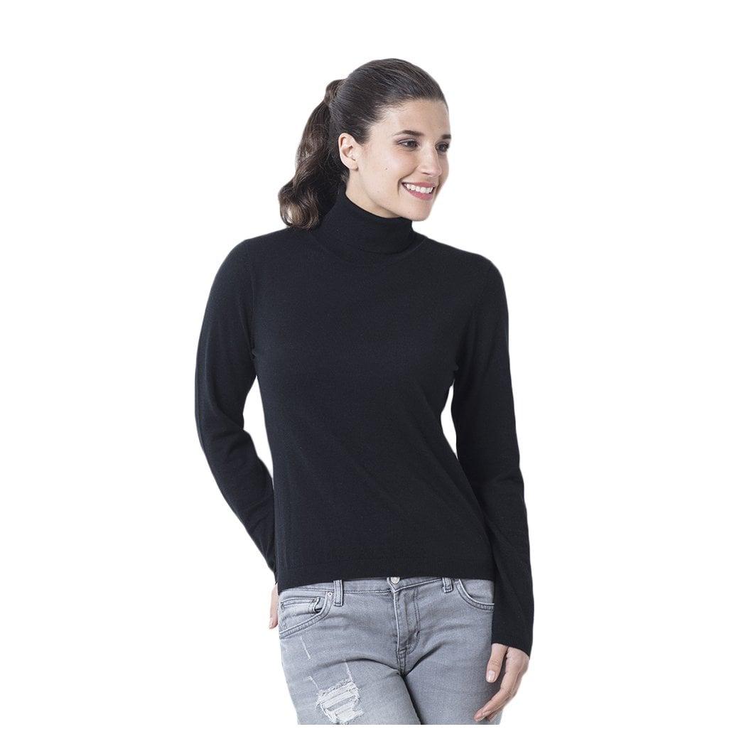 """CARLU de Monaco Roll-neck cashmere pullover """"Victoria"""" superfine knit"""