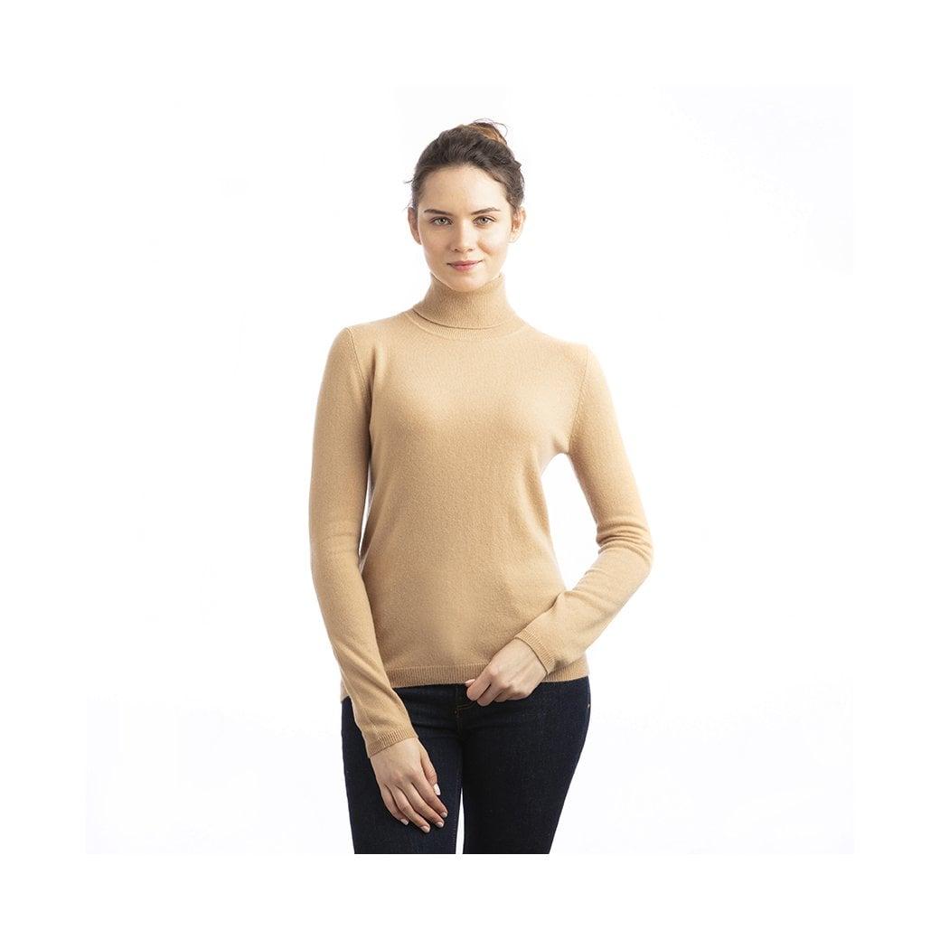 """CARLU de Monaco Roll-neck straight fit cashmere pullover """"Naomi"""""""