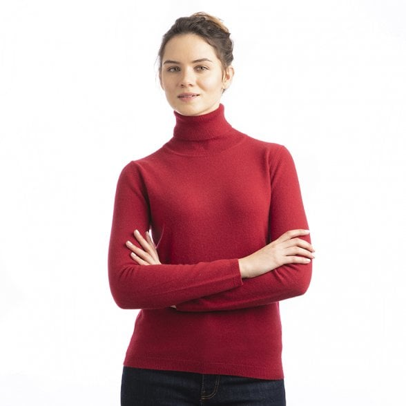 "Roll-neck straight fit cashmere pullover ""Naomi"""