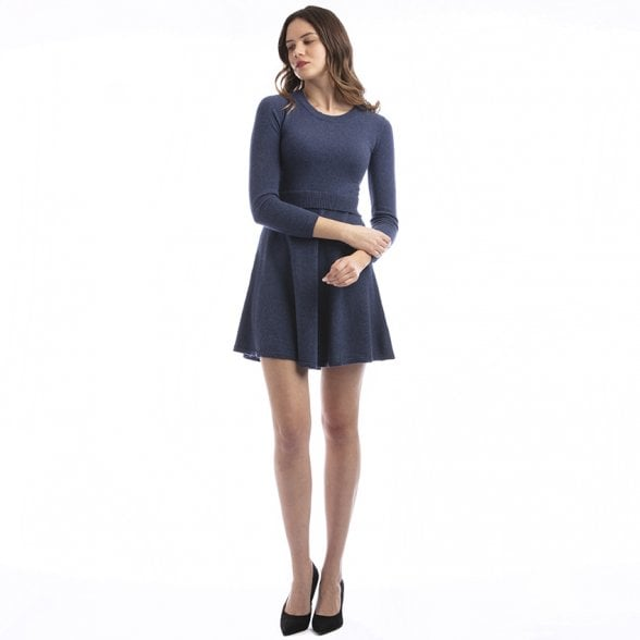 "Round neck cashmere dress ""Valeria"""