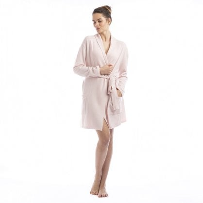 "Short cashmere robe with pockets and belt ""Florence"""