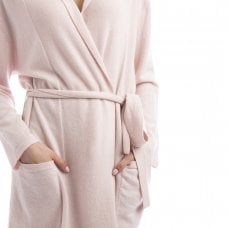 "CARLU de Monaco Short cashmere robe with pockets and belt ""Florence"""