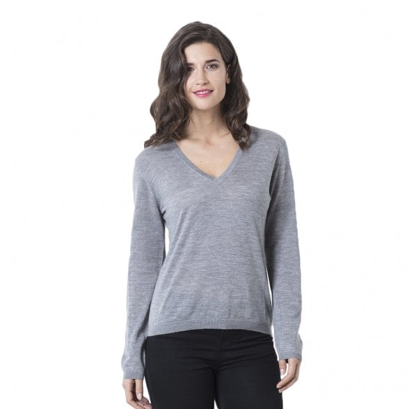 "V-neck cashmere pullover ""Antonia"" superfine knit"