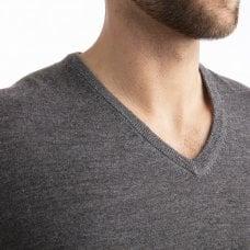 """CARLU de Monaco V-neck cashmere pullover """"Gareth"""" superfine knit"""