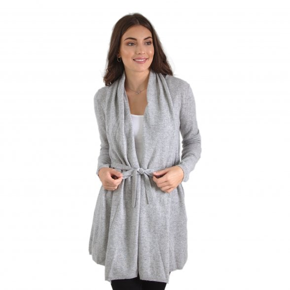 "Wrap cashmere cardigan with belt ""Iza"""
