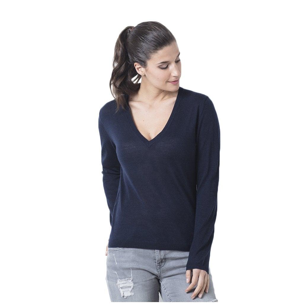 """CARLU de Monaco V-neck cashmere pullover """"Antonia"""" superfine knit"""