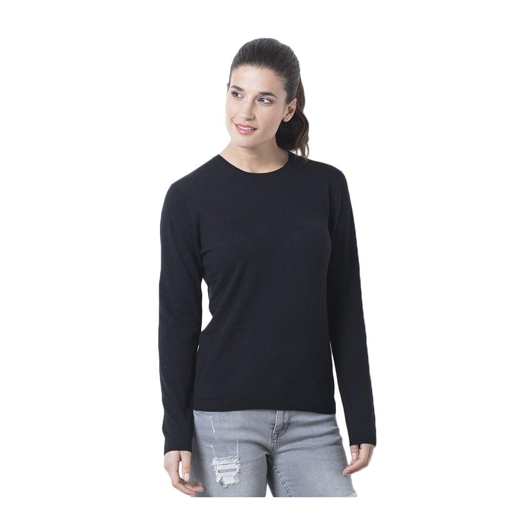 "CARLU de Monaco Round neck cashmere pullover ""Madelaine"" superfine knit"