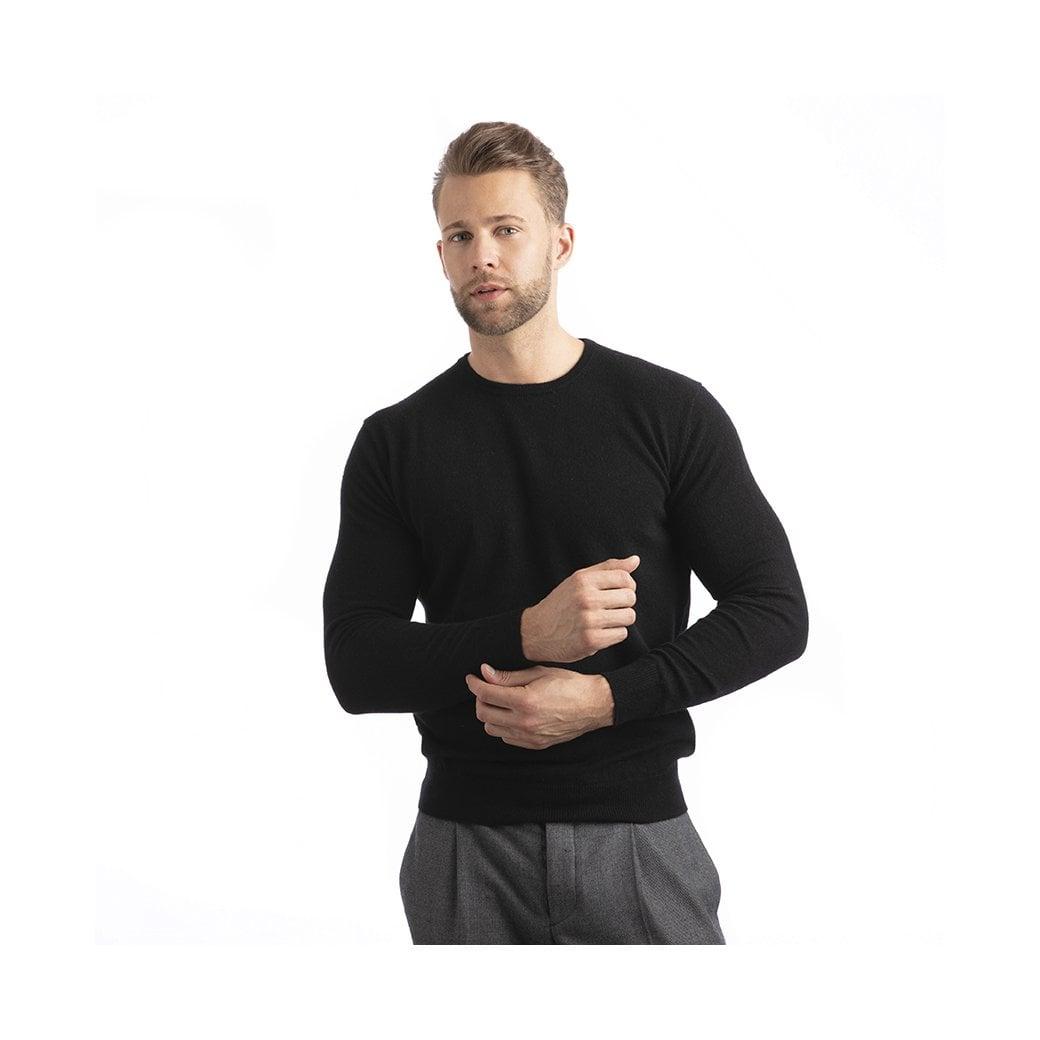 Round-neck cashmere pullover