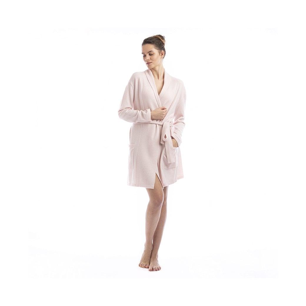 "CARLU de Monaco Short cashmere robe with pockets and belt ""Florence"""