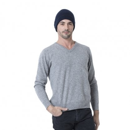 "Rib knitted cashmere hat ""Charlie"""
