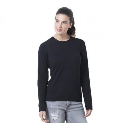 """Round neck cashmere pullover """"Madelaine"""" superfine knit"""