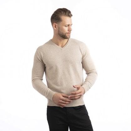 """V-neck cashmere pullover """"Lancelot"""""""