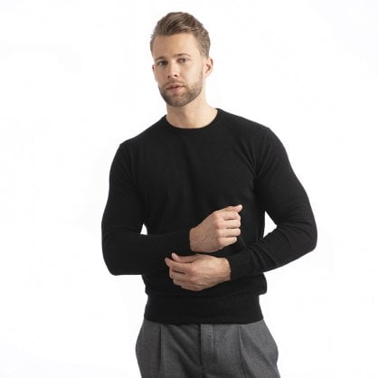 "Round-neck cashmere pullover ""Galahad"""