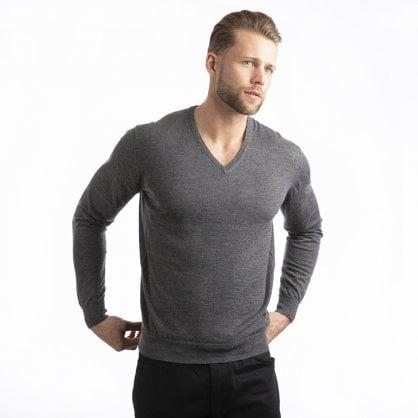 "V-neck cashmere pullover ""Gareth"" superfine knit"